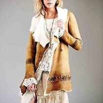 Free People Hand Painted Suede Coat (M) Photo