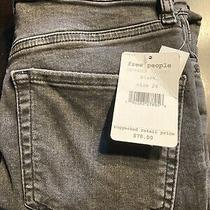 Free People High Rise Busted Skinny Jeans Black- Girls Size 24 Nwt 78 Photo