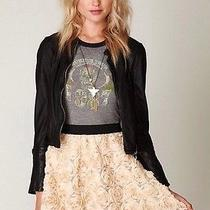 Free People Holiday Rosette Skater Skirt S Photo