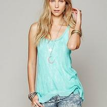 Free People Intimately Lace Ethereal Tank Top Aqua / Green M Nwt 48 Photo
