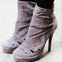 Free People Ivy Woven Heel Booties Heel  by Jeffrey Campbell Size 9 Msrp 228 Photo