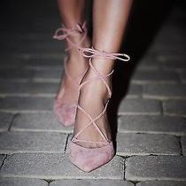 Free People Jeffery Campbell Andra Kitten Heel Super Cute Size 6 New Blush Pink Photo