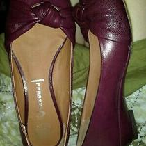 Free People Jeffrey Campbell 7.5 Burgundy Retro Leather Pin Up Inch Ballet Shoe Photo