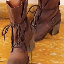 Free People Jeffrey Campbell Leather Ankle Boots Sz 40 Photo
