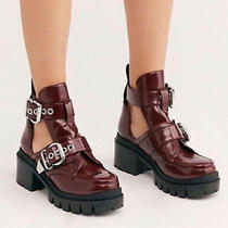 Free People Jeffrey Campbell Maxx Platform Burgundy Boots Size 10  New Photo