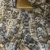 Free People Just Float on Printed Flare Jeans in Snakeskin Size 25 Photo