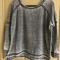 Free People Long Sleeve Grey Lightweight Slouchy Pullover Sweatshirt Size Xs Photo