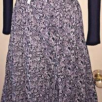 Free People Love Train Wrap Skirt Sz 8 Black Combo Staggered Hem Photo