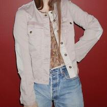 Free People Miltary Style Collarless Blush Pink Jacket Size S Photo