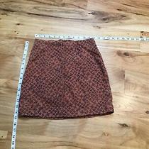 Free People Mini Skirt Rust and Black Print Size 2 Photo