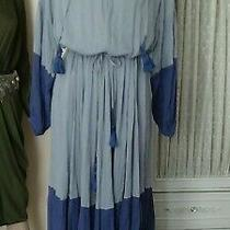 Free People Never Forget Blue Midi Dress Sz S Photo