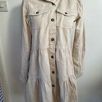 Free People Nicole Denim Shirt Dress. Stone/beige. Xs. Rrp 88 Photo