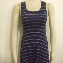 Free People Nordstrom Navy Pink Striped Ribbed Tank Complimenting Dress Sz S Photo