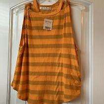 Free People Nwt Women's the Twist Striped Tank Top Mandarin Size M Msrp 48 Photo
