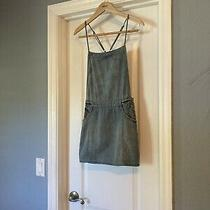 Free People Overalls Skirt Romper Chambray Denim Blue Xs Photo