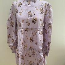 Free People Petit Fours Mini Dress. Linen Mix. Lilac/floral. Xs. Rrp 108 Photo
