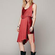 Free People Red Elanore Mini Wrap Dress Nwt 118 M Tuscan Red Grecian Goddess Photo