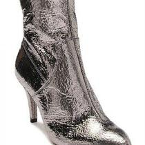 Free People Silver Willa Leather Pointed Ankle Boots Heels Size Us Size 8 178 Photo