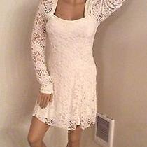 Free People Size Large Lace Cream Color Dress Wedding Dress Photo