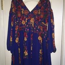 Free People So Nice Chiffon Dress Size L  Photo