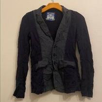 Free People Solid Blue Jacket Size 0 Photo