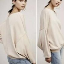 Free People the Check Cashmere Blend Sweater Sz Xs Pale Blush Pink Ob550369 Photo