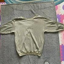 Free People Tunic Sweatshirt Sage Green Womens Sz Medium Photo