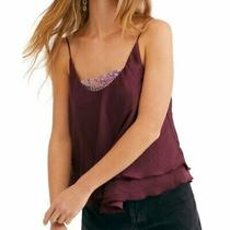 Free People Turn It on Cami Vetiver Bloom Xs Photo