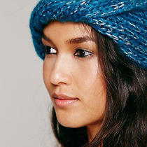 Free People Turquoise Shine on Twisted Headwrap Nwt Anthropologie Acrylic Knit  Photo