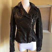 Free People Vegan Leather Black Motorcycle Jacket Coat Moto Women's 4 Photo