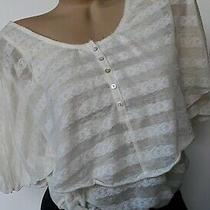 Free People White Sheer 2 Layer Banded Tunic Shirt Top Size Xs X-Small  Photo
