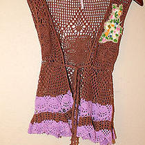 Free People Womans Small Sweater Vest Crochet Photo