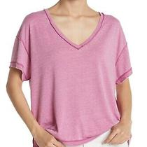 Free People Women Knit Top Electric Bloom Purple Size Xs All Mine v-Neck 58 397 Photo