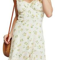 Free People Women Like a Lady Dress Yellow Beige Size Xs Floral Ruffle 108 071 Photo