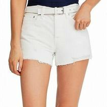 Free People Women's Denim Shorts Bright White Size 24 Distressed 68- 372 Photo