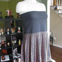 Free People Women's Gray & Pink Strapless Dress Size Medium Urban Outfitters A Photo