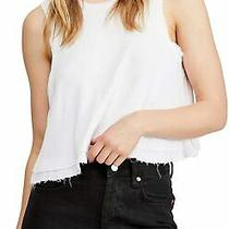 Free People Women's Knit-Top White Size Large L New Love Tank Top 58 331 Photo