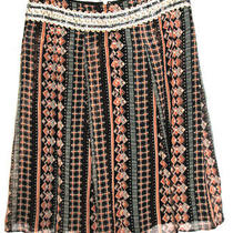 Free People Women's Silk Skirt Lined W Sheer Overlay & Sequin Waist Size Small  Photo