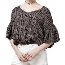Free People Women Size Xs Po in Full Bloom Pullover Oversize Top Blouse Photo