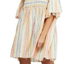 Free People Womens Dress Yellow Size Large L Shift Striped Fringe Trim 108 519 Photo