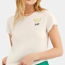 Free People Womens Knit Top Blush Pink Size Medium M Lemon Tart Tee 58 339 Photo