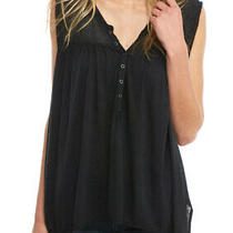 Free People Womens Ob564537 Hudson Top Slate Black Xs Photo