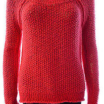 Free People Womens S Popcorn Weave Pullover Water Red Photo