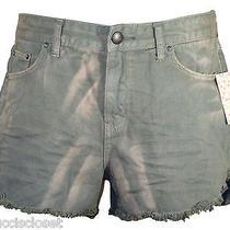 Free People Womens Shorts Colored Denim Jean Cutoffs Grey Dolphin Sz 31 New 68 Photo