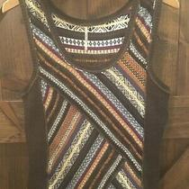 Free People Womens' Size S Gray Black Sweater Vest in Euc Pullover Sleeveless Photo