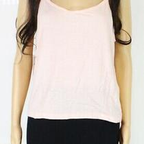 Free People Womens Tank Top Blush Pink Size Large L Solid Scoop-Neck 30- 371 Photo