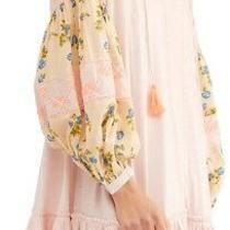 Free People Womens Top Blush Pink Size Xs Mix It Up Tie-Neck Tunic 128 010 Photo