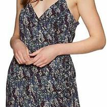Free People Womens Wrap Dress Blue Black Size Small S Floral-Print 68 144 Photo
