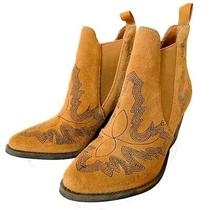 Free People X Jeffrey Campbell Suede Western Boots Photo