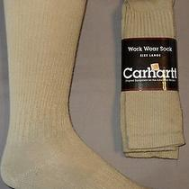 Free Shipping 2 Pair Mens Large Carhartt Work Wear Tan Crew Lightweight Socks Photo
